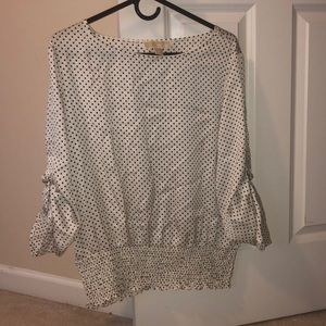 Micheal Kors Black and White Polka Dot Blouse